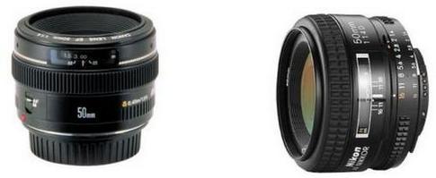 Canon 50mm f/1,4 и Nikon 50mm f/1.4D