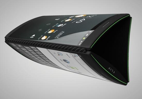 Смартфон Flip Phone с тремя дисплеями