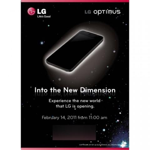 Смартфон LG Optimus 3D на Mobile World Congress 2011