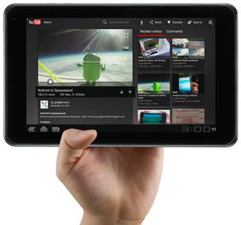 LG OPTIMUS PAD на ОС Android 3.0