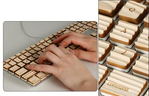 Клавиатура с деревянными клавишами
