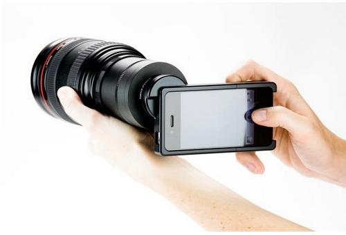 Объективы Canon и Nikon на iPhone