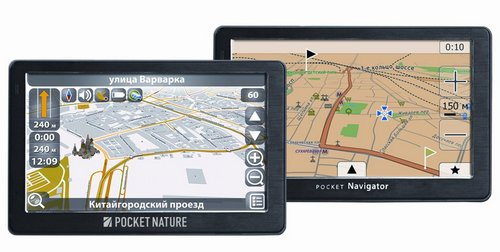 Навигаторы Pocket Navigator RD-500 и Pocket Nature RD-500 с встроенным радар-детектором