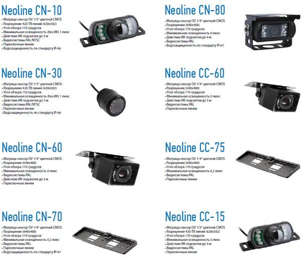 Новая линия камер заднего вида Neoline