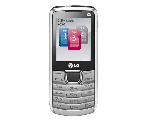 LG A290: телефон с 3 SIM-картами
