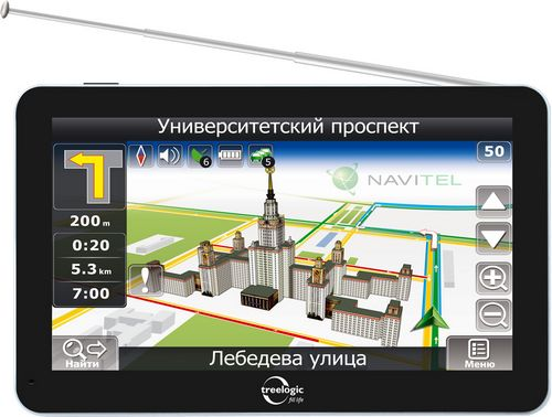 GPS-навигатор Treelogic с TV тюнером
