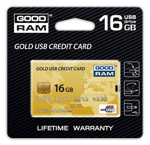Флешка Gold USB Credit Card