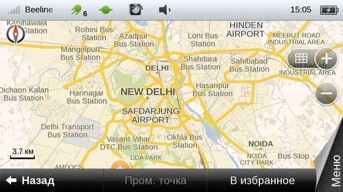 Пакет карт «Индия 2012» для Android OS