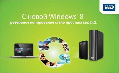 Поддержка функций Windows 8 в продуктах Western Digital