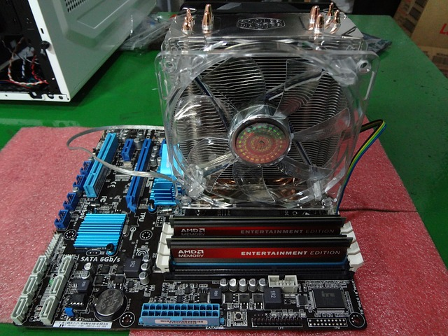Вентилятор охлаждения на процессоре