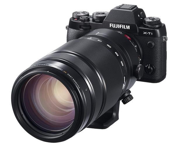XF100-400mm_X-T1_Black_Front_Left