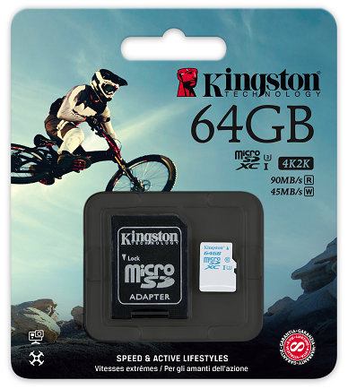 Kingston microSD Action Camera UHS-I U3
