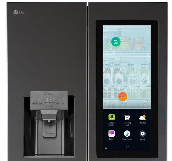 Холодильник LG Smart InstaView с сенсорным ЖК-экраном с диагональю 29 дюймов
