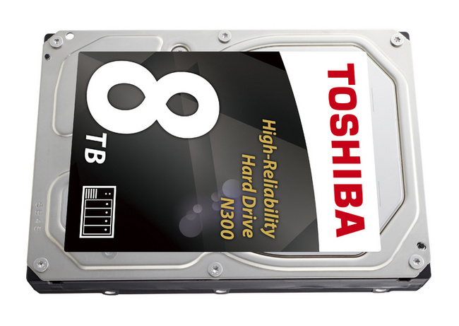 Жесткий диск Toshiba N300 для NAS на 8 ТБ