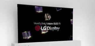 LGD 65-inch UHD rollable OLED display