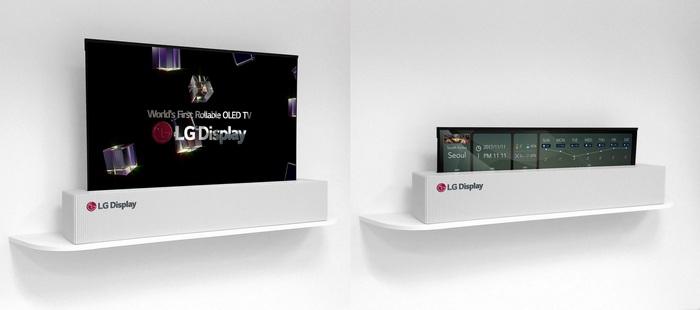 "LG Display продемонстрировала 65"" сворачивающийся UHD OLED-дисплей"