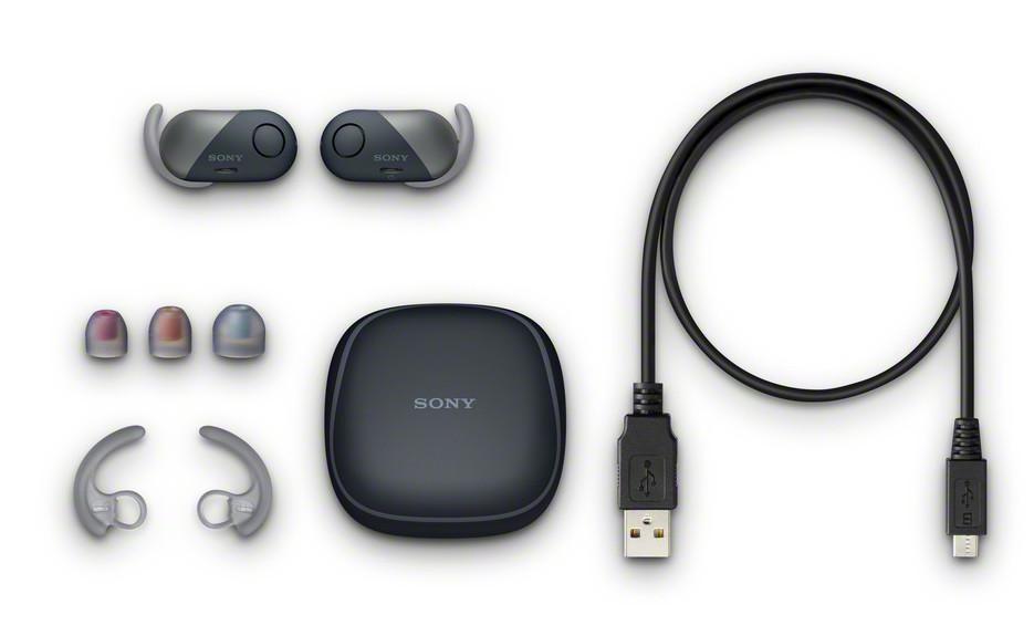 Sony WF-SP700N комплектация
