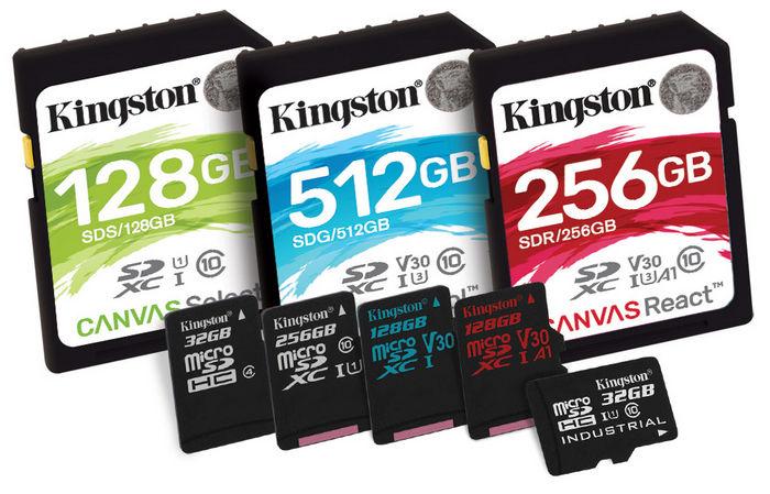 Kingston представила новую серию карт-памяти Canvas