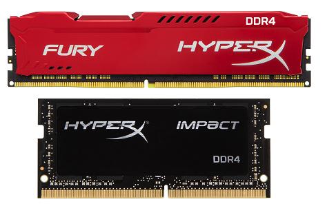 Новая DDR4-память HyperX Impact и FURY с автоматическим разгоном