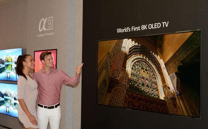 LG представит OLED-телевизор с разрешением 8K на выставке IFA 2018