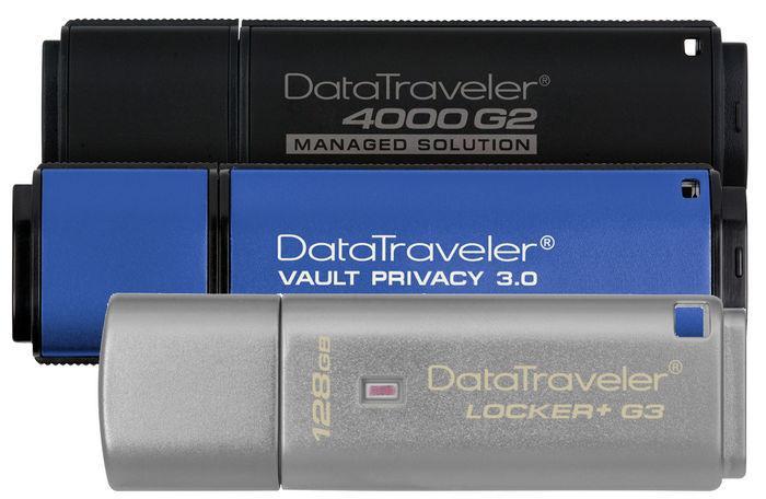 USB-накопители Kingston 128ГБ с шифрованием