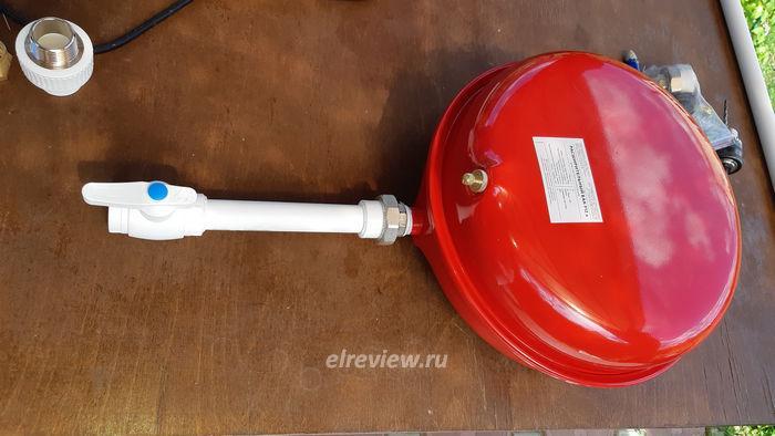 Установка расширительного бака отопления в закрытой системе