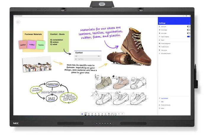 Дисплей NEC MultiSync® WD551 Windows - рисование